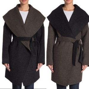 Beyond threads reversible belted coat
